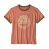 Patagonia W' S ROAD TO REGENERATIVE RINGER TEE Frauen - T-Shirt - MELLOW MELON