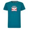 Elkline TEEINS Kinder - T-Shirt - BLUE CORAL
