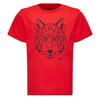 Jack Wolfskin BRAND T KIDS Kinder - T-Shirt - PEAK RED
