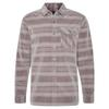 Royal Robbins ORGANIC COVERT STRIPE L/S Männer - Outdoor Hemd - LT PEWTER