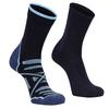 Alpacasocks HIKING/LINER COMBINATION 2-PAIR Unisex - Wandersocken - BLU/AZUL CLARO/JEANS INDACO