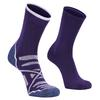 Alpacasocks HIKING/LINER COMBINATION 2-PAIR Unisex - Wandersocken - PLUM/MALVA/OTERO GREYMARL