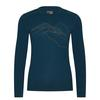 Icebreaker MENS 200 OASIS LS CREWE THE HIGHER WE GO Männer - Funktionsshirt - NIGHTFALL