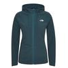 The North Face W MEZZALUNA  FULL ZIP  HOODIE - EU Frauen - Fleecejacke - MALLARD BLUE STRIPE