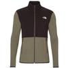 The North Face M TKA GLACIER FULL ZIP JACKET Männer - Fleecejacke - NEW TAUPE GREEN/TNF BLACK