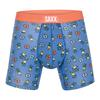 SAXX VIBE BOXER BRIEF Männer - Funktionsunterwäsche - BLUE PINAPPLE BASH