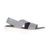 Crocs LITERIDE STRETCH SANDAL W Frauen - Outdoor Sandalen - LIGHT GREY/WHITE