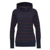 FRILUFTS DUNCAN HOODED LONGSLEEVE Frauen - Funktionsshirt - PATRIOT BLUE/BOMBAY BROWN STRI