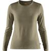Fjällräven ABISKO WOOL LS W Frauen - Funktionsshirt - LIGHT OLIVE