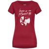 Supernatural W PLANET B TEE Frauen - Funktionsshirt - RUMBA RED/FRESH WHITE PLANET