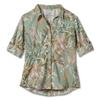 Royal Robbins EXPEDITION PRINT 3/4 SLEEVE Frauen - Outdoor Bluse - TEA
