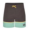 Patagonia M' S STRETCH WAVEFARER VOLLEY SHORTS - 16 IN. Männer - Badehose - BOTTOM LEG STRIPE: FORGE GREY