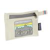 Patagonia SMALL ZIPPERED POUCH - Packbeutel - FITZ ROY SKIES: BLEACHED STONE