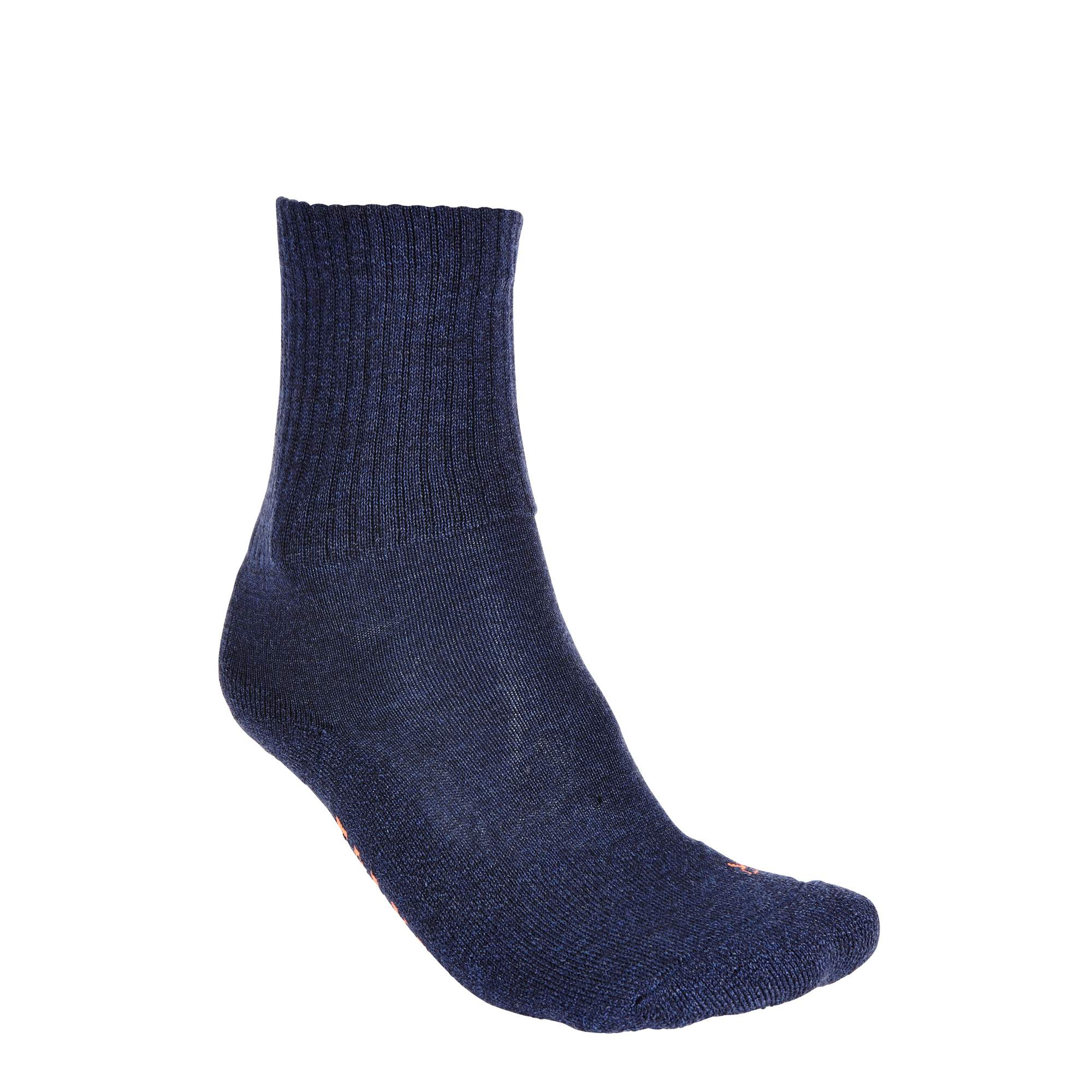 Falke Walkie light Unisex Gr. 46/48 - grau|blau / jeansblau - Lange Socken 16486/6670