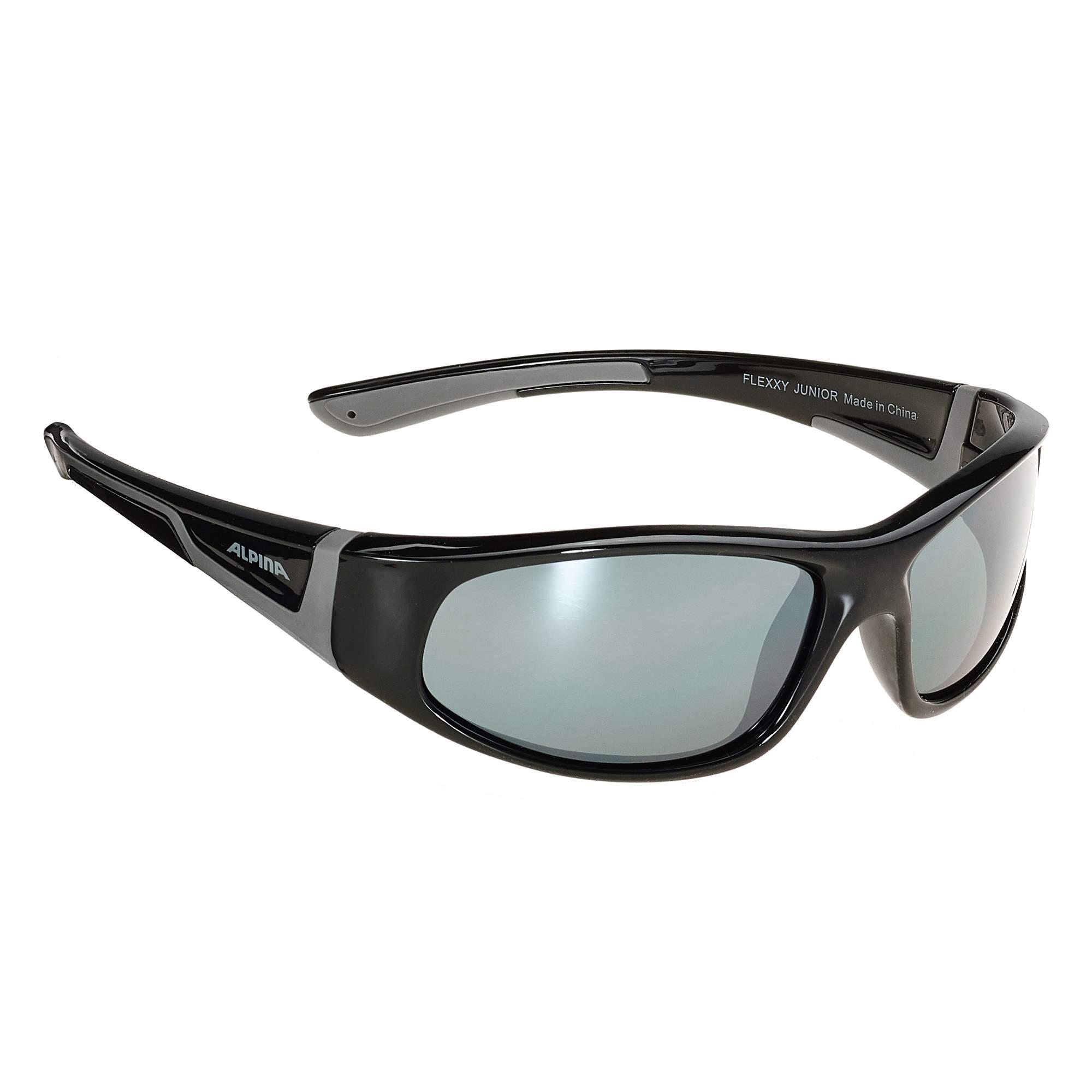 Alpina Flexxy Junior Kinder - Sonnenbrille - schwarz|grau|grau