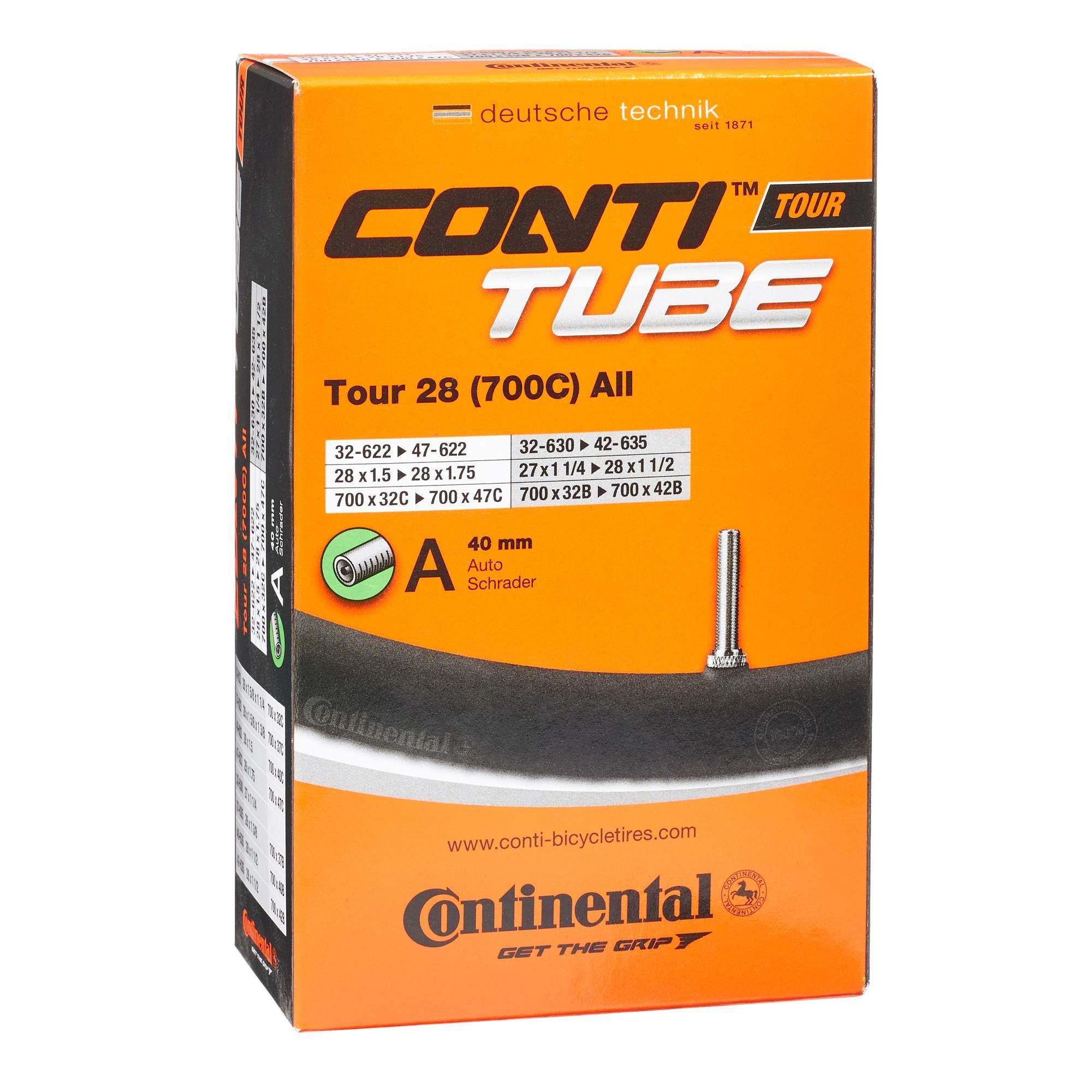 Continental FAHRRADSCHLAUCH TOUR 28 ZOLL 32-47 (AV) - Fahrradschlauch - orange