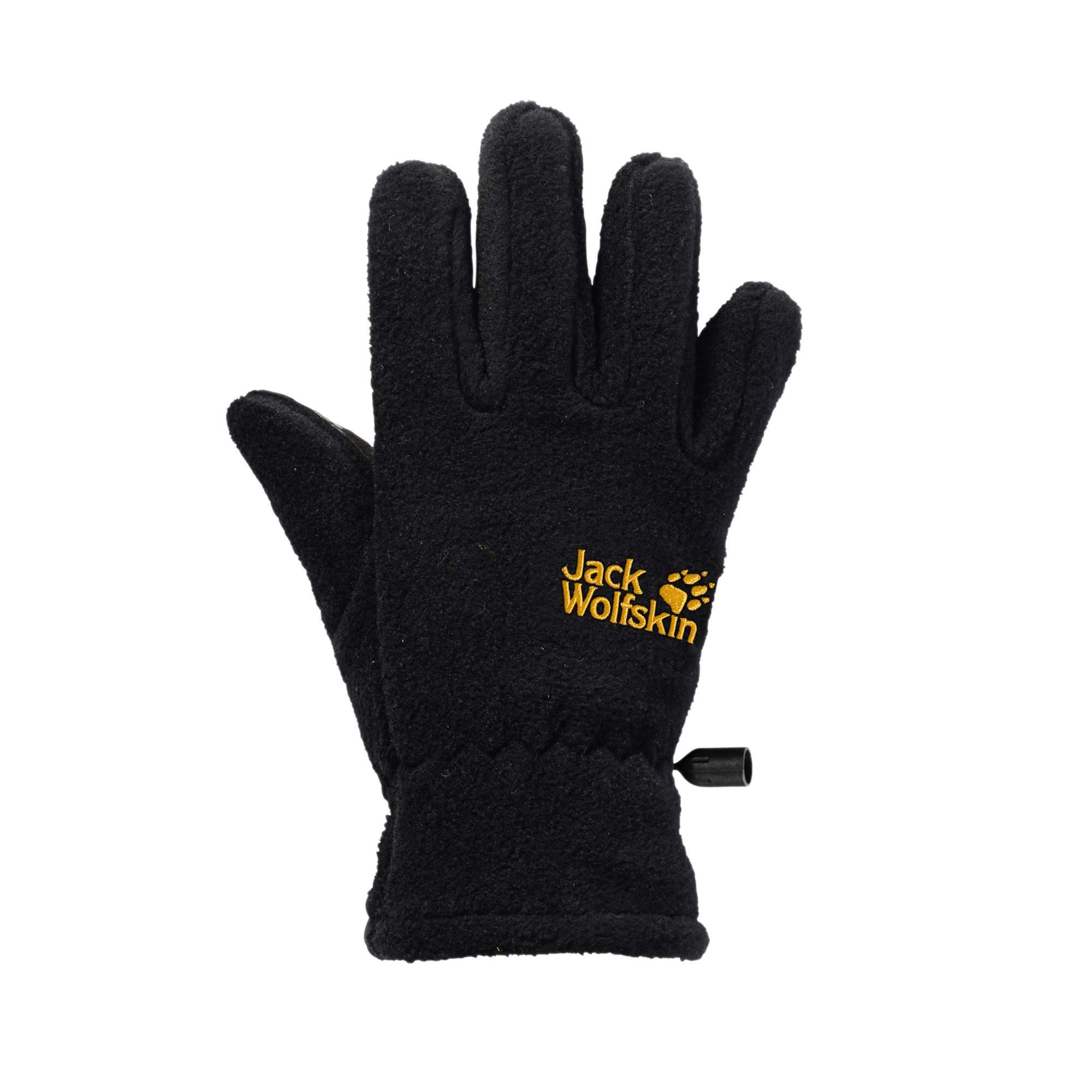 Jack Wolfskin Fleece Glove Kinder Gr. 116 - Handschuhe - schwarz