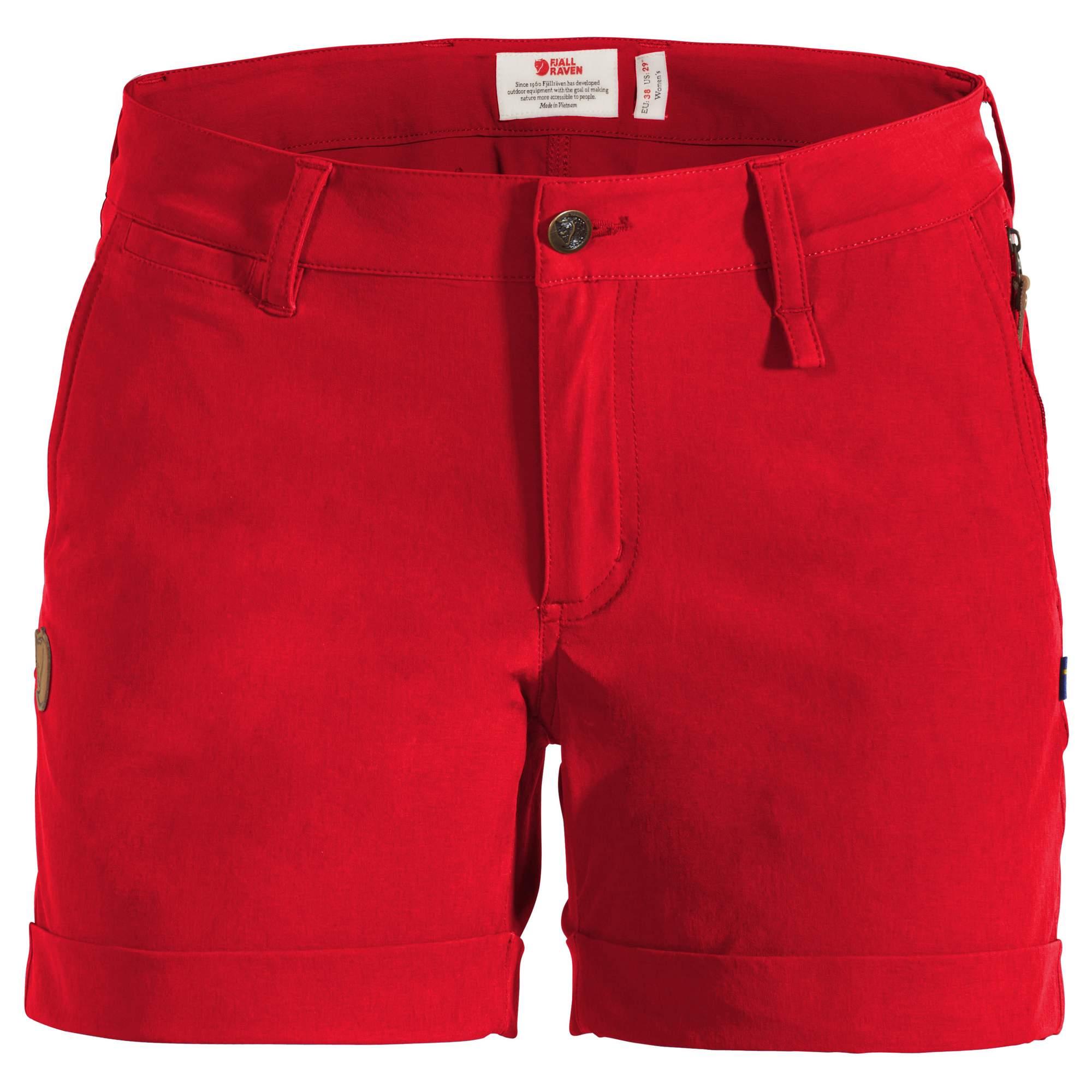 Fjällräven Abisko Stretch Short W Damen Gr. 38 - rot / red - Sommer-Trekkingho