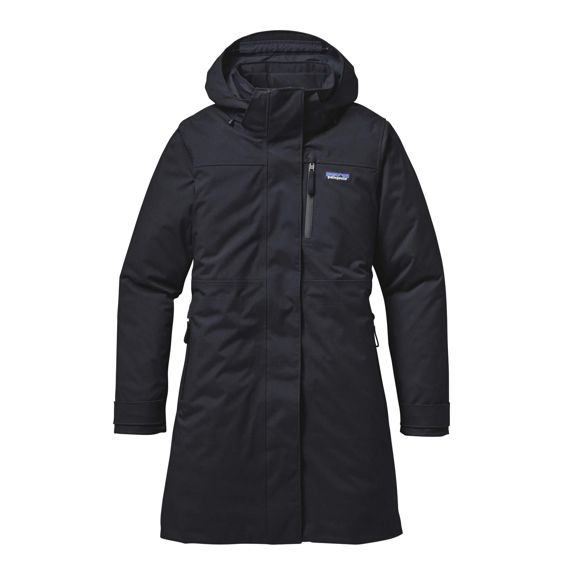 Patagonia Stormdrift Parka Damen Gr. XL - schwarz / black - Wintermäntel