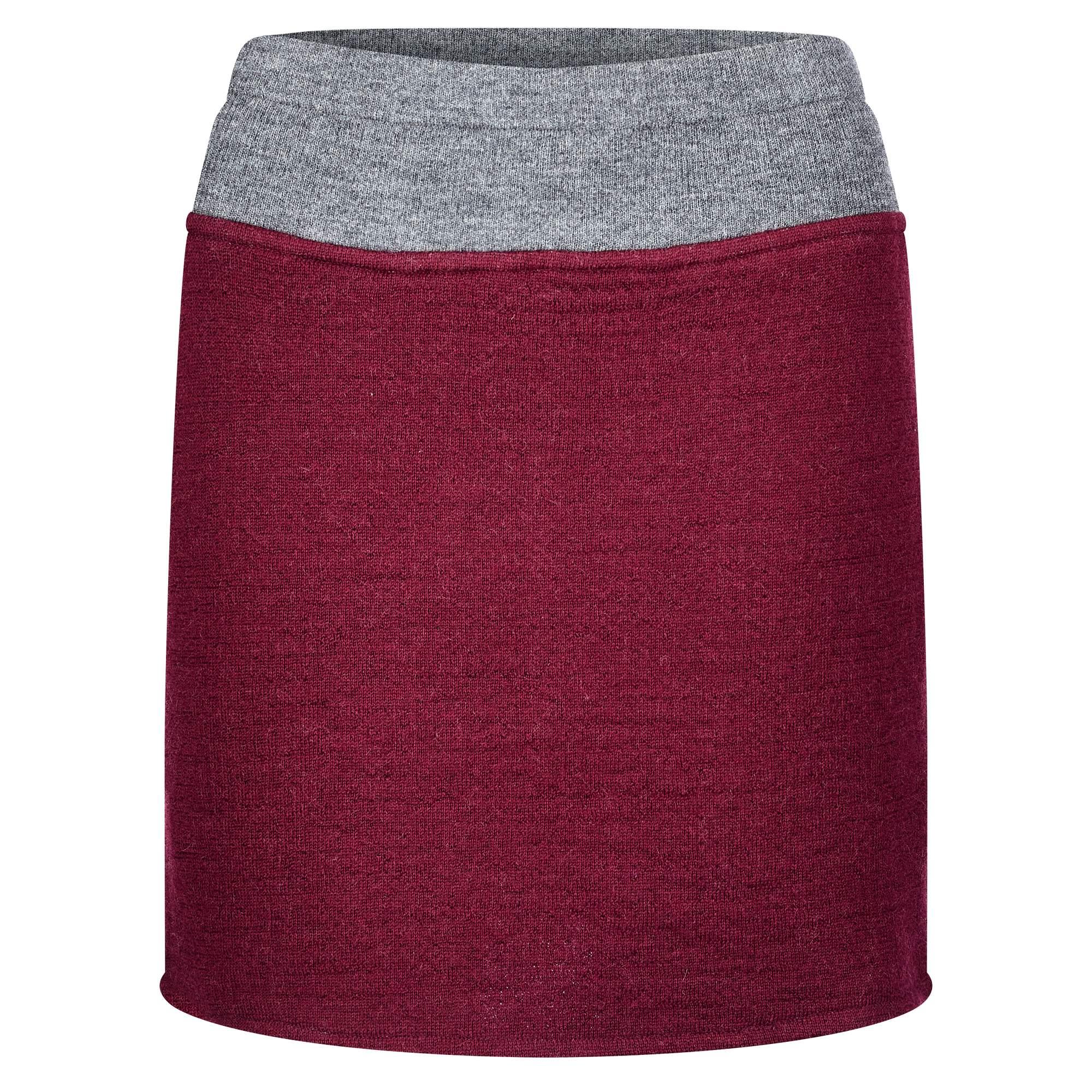 Himalaya Skirt DF-1031 Frauen Gr. L - Rock - rotbraun grau