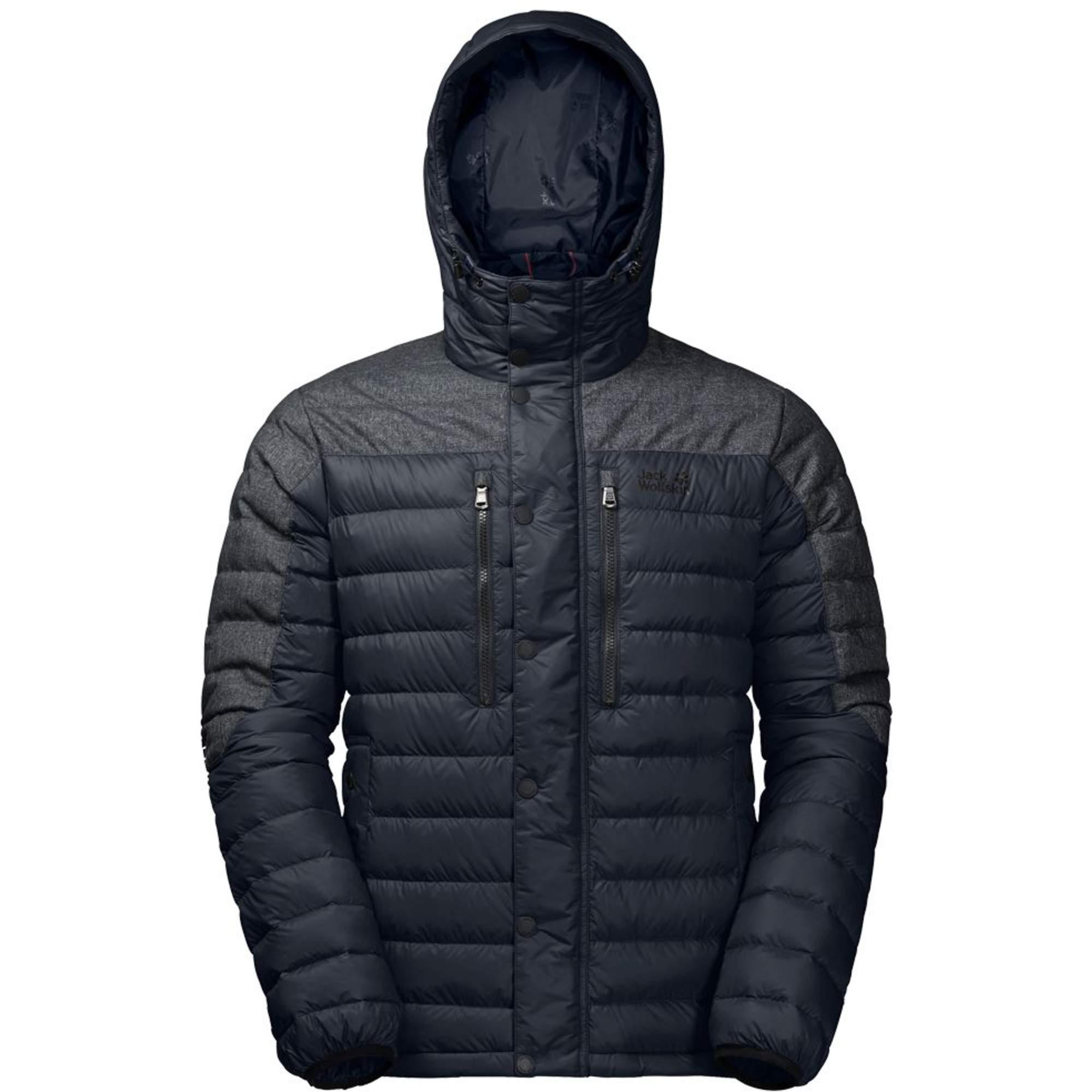 Jack Wolfskin Richmond Jacket Herren Gr. XL - schwarz|blau / night blue - Daunenjacken 1203431-1010005