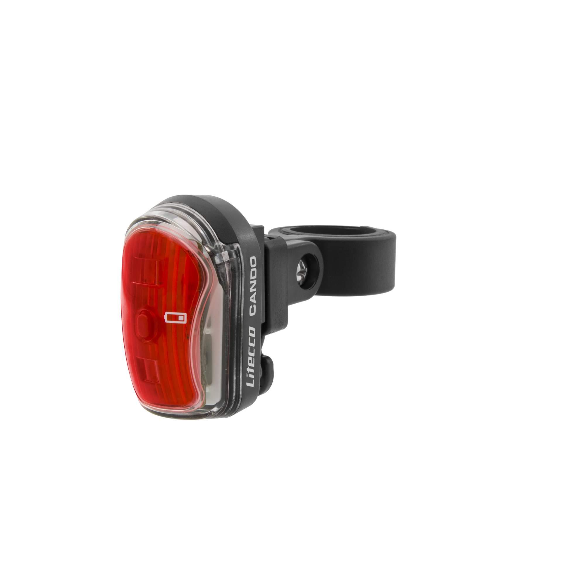 Litecco CANDO - Fahrradbeleuchtung - rot|schwarz