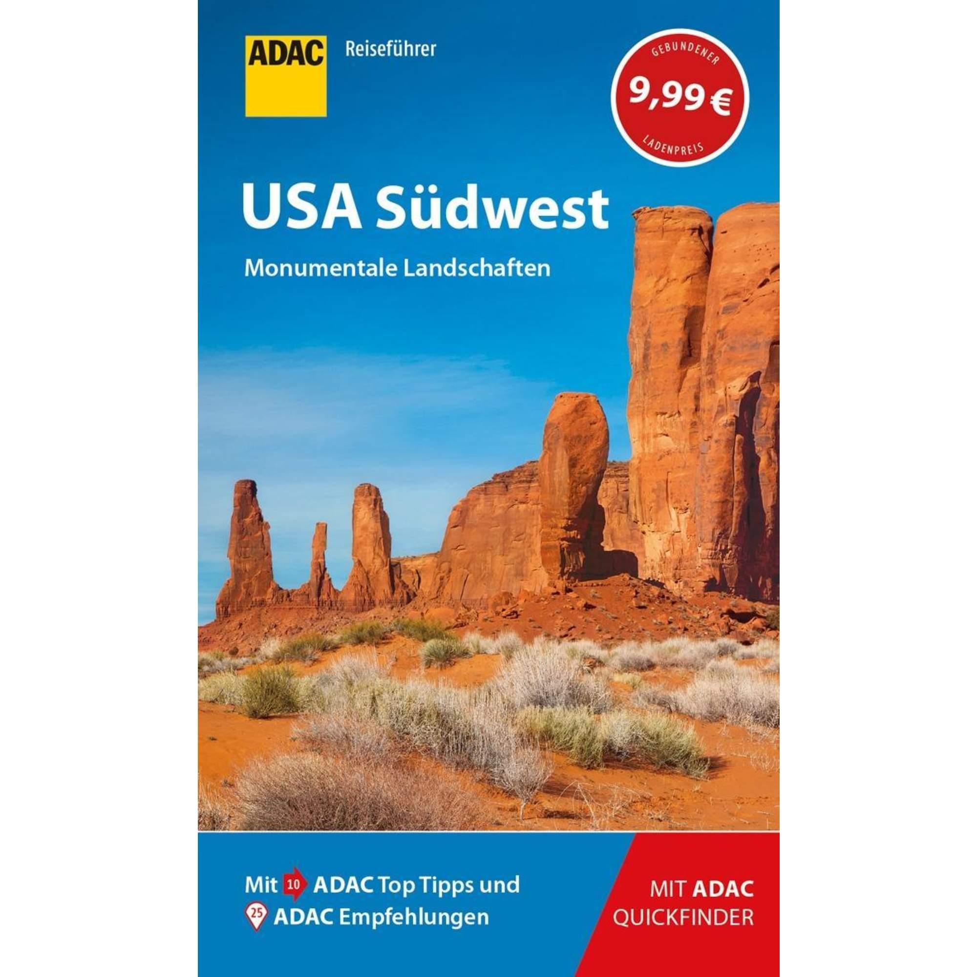 ADAC Reiseführer USA Südwest, 9,99 Euro